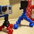 アクションカメラフレックスバブル三脚印刷可能