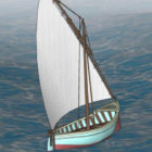 Small Wooden Sailor Almejera Boat