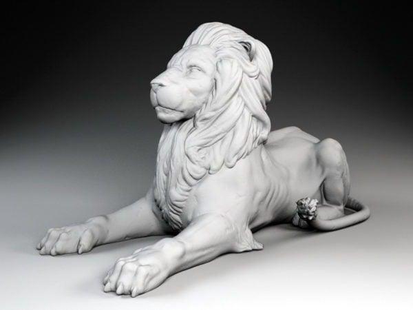 تمثال أسد للنحت
