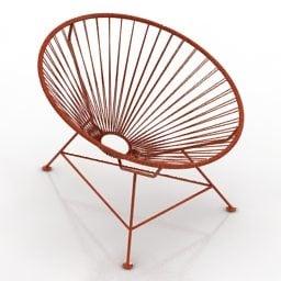 Modern Round Armchair Wire Style