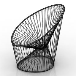 Outdoor Armchair Wire Style Design