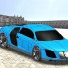 Blue Audi Car Amimated