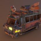Mars Space Bus Sci-fi Vehicle