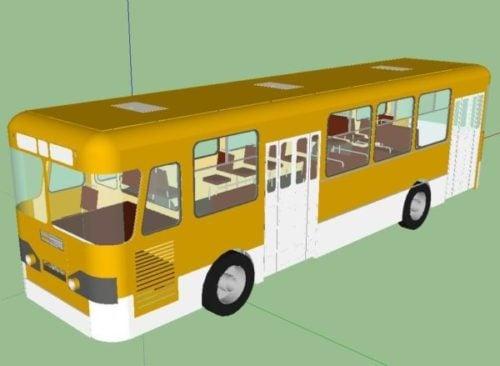 اصفر حافلة باص مركبة