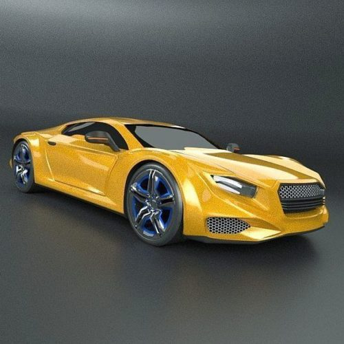 Yellow Averon Gt Car