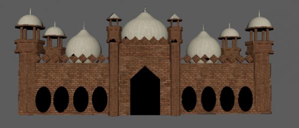 Edificio de la mezquita de Badshahi