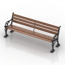 Park Wooden Bench Design Free 3d Model 3dm Gsm Open3dmodel