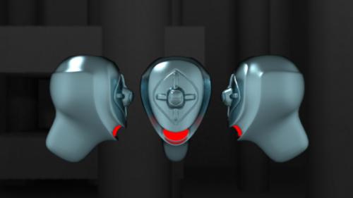 Diseño de cabeza de robot grande