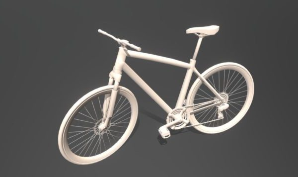Old Bike Low Poly
