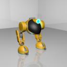 Idog Robot Biped Rigged