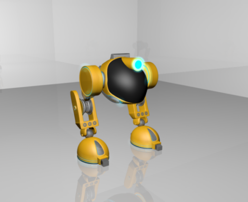 Idog روبوت بالقدمين Rigged