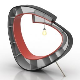 モダンな湾曲した本棚デザインの無料3dモデル 3ds Gsm Open3dmodel