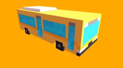 Peli Lowpoly Linja-autojen suunnittelu