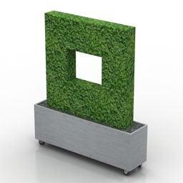 茂みボックスシェイプヘッジフリー3dモデル 3ds Gsm Open3dmodel