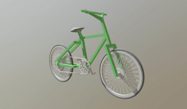 Vanha vihreä polkupyörä