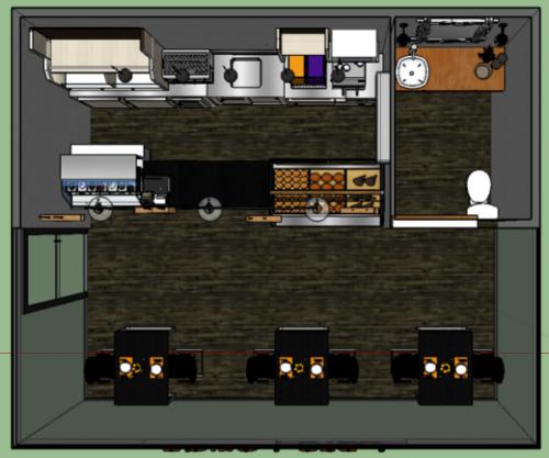 مقهى متجر بيت البناء