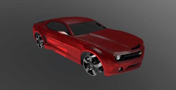 سيارة كامارو الحمراء