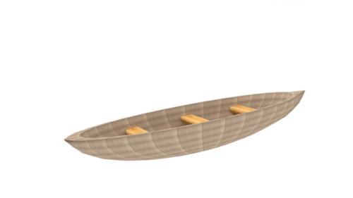 زورق خشبي قارب