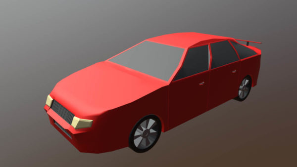 Lowpoly Diseño de modelo de automóvil