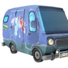 Kreslený minibusové vozidlo
