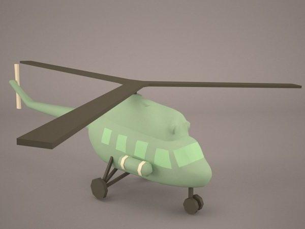 Helicóptero de dibujos animados