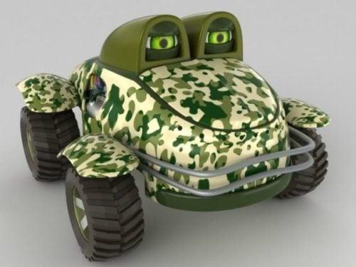 الكرتون شاحنة الجيش نمط الوحش