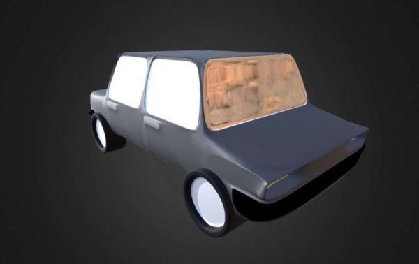 Lowpoly Diseño de coches de dibujos animados