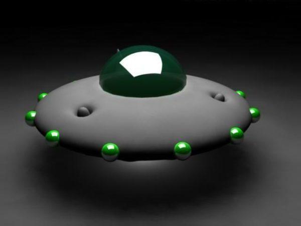 Sarjakuva lentävä Ufo-avaruusalus