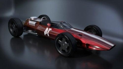 Viejo coche de carreras de Fórmula F1