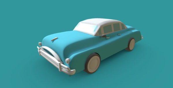 Lowpoly Klassinen vintage-auto