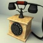 古いスタイルの古典的な電話