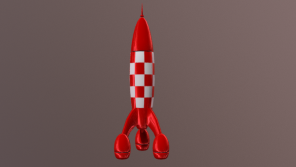 Cartoon Rocket Tin Tina