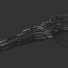 Sci-fi Alien Crucero Spacecraft