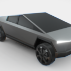 Tesla Cybertruck Car Low Poly