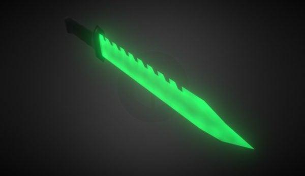 Arma de cuchillo esmeralda