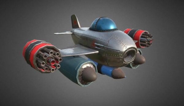 Avión de dibujos animados