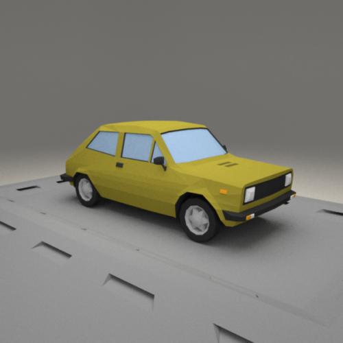Lowpoly Car Fiat 127a