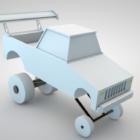 لعبة طفل Lowpoly شاحنة