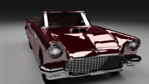 Red Ford Thunderbird Car