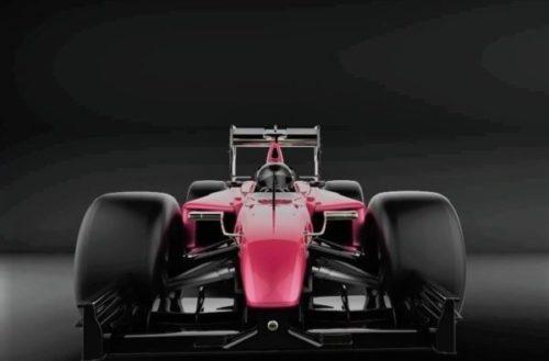 Coche deportivo de Fórmula F1 2017