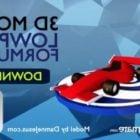 F1  Lowpoly سيارة سباق