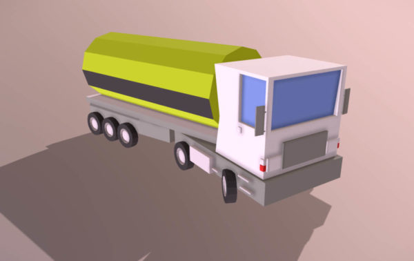 Polttoaineauto Lowpoly