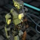 Rigged تصميم الإنسان الآلي
