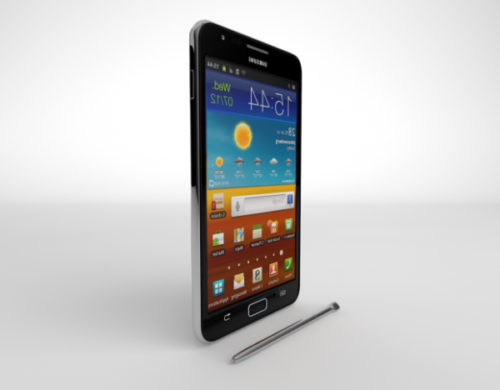 Galaxy Note 2-älypuhelin kynällä