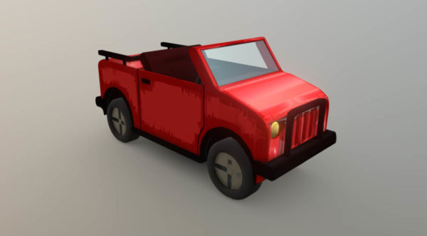 Lowpoly Coche Jeep Hcr