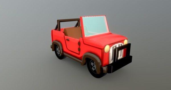 Coche de dibujos animados Hcr2 Jeep Lowpoly