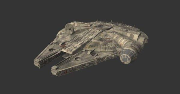 Sci-fi Halcon Spaceship