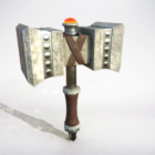 Weapon Hammer Lowpoly