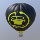 Black Hot Air Balloon