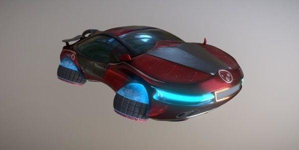 Hover Car Scifi -auto